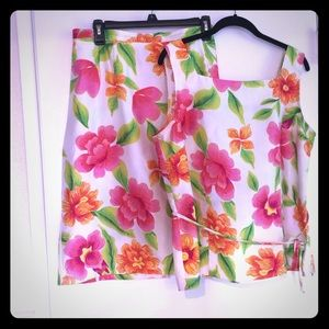 Women's two piece blouse and skirt